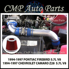 BLUE RED 1994-1997 PONTIAC FIREBIRD 5.7 5.7L V8 LT1 COLD AIR INTAKE SYSTEMS