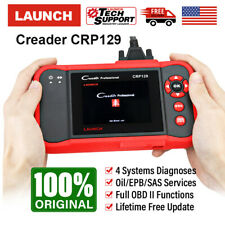 LAUNCH X431 CRP129 OBD2 Scanner 4 Systems Diagnostic Tool EPB SAS Oil Reset Scan