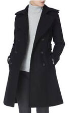 KAREN MILLEN NAVY BLUE Military Button BELTED COAT Wool Blend  RRP £399 Size 8