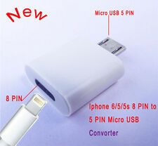 Lightning Female to Micro USB 2.0 Male Adapter Converter Dock for Android 2 Pack