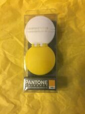 Pantone Universe Contact Lens Case By Kikkerland White Yellow New