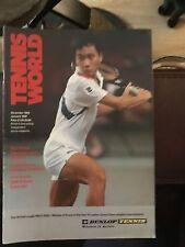'Tennis World' UK Magazine- December 1989/ January 1990 - Michael Chang