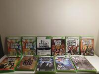 Guitar Hero + Rockband + DJ Hero Xbox 360 Games Cleaned and Tested!