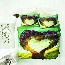 3D Nice Dreams 100% Cotton Sateen Duvet Cover Bedding Set Double