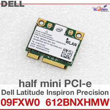 Wi-fi wlan wireless Card carte réseau Dell mini pci-e 09fxw0 612bnxhmw BT d43