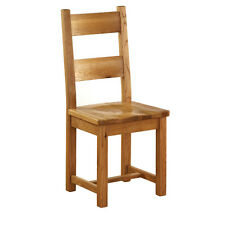 SOLID OAK CHAIR GENUINE SOLID OAK CHAIR WITH WOODEN SEAT CHUNKY OAK