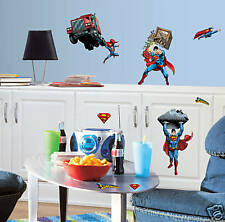 Superman Wall Decor 2 Borders Appliques & Large Mural!