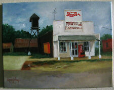 Hardware Store Roopville Georgia Original Signed Oil Painting 11x14 Pepsi sign