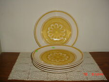 "5-PIECE ROYAL CHINA ""CAVALIER"" 6 3/8"" SALAD-SERVING PLATE/YEL-WHITE/CLEARANCE!"