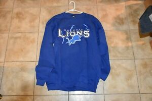 Vintage DETROIT LIONS Starter Sweatshirt Silver Shadow NEW WITH TAGS 90s