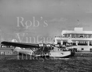 Pan Am Clipper Flying Boat Martin MB-130 at Dinner Key Florida 1930s