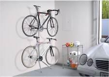 2 bike Leaning Bicycle Rack Storage Stand Donatello Garage Adjustable Holder Art