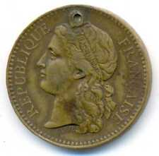 France Paris World Exhibition Jetton Medal Expo 1878 by Barre VF (hooled)