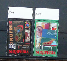 Albania 2003 Europa Postal Art set MNH