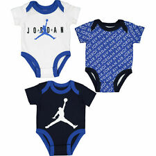 NIKE JORDAN 3pcs Baby Bodysuit Set, Black/Blue/White, size Newborn