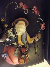 "HEAVY 12"" Sandbag-Like Fisherman Santa Claus Fishing Christmas Holiday Decor"