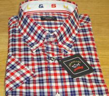New Paul & Shark Smart Short Sleeve Shirt Size 3XL 47cm Superb Quality WOW !!
