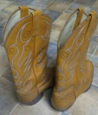 Dan Post Tan All Leather Western Boots Men's Size 9.5 B
