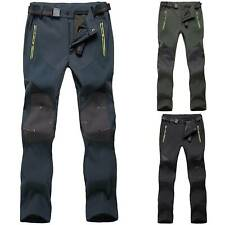 Mens Thick Fleece Thermal Trousers Tactical Waterproof Cargo Breatheble Pants