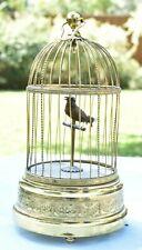 Antique Bontems French Automaton Singing Bird Gilt Cage Music Box France WORKS