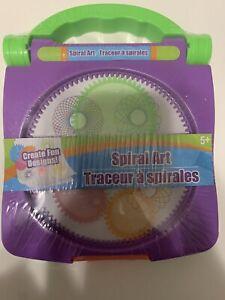 *💜*NEW Spiral Art Craft Set Spirograph Stencil Spiral Wheels Compact Kids Toy💜