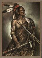 DDR Postkarte INDIANER Nordamerika Dakota Krieger (um 1870) AK vom Planet Verlag