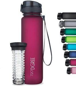 720 DGREE Trinkflasche Wasserflasche 1L  uberBottle Früchtebehälter Nachhaltig
