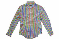 PAUL SMITH BLACK LABEL WHITE STRIPED COTTON SHIRT WITH CUFFLINKS - SIZE 42 UK 10