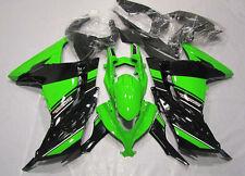 Green W/BlackPlastic Bodywork Fairing Kit For Kawasaki NINJA 300 EX300 2013-2014