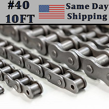 #40 Roller Chain 10ft FEET with Connecting / Master Link - Same Day Shipping