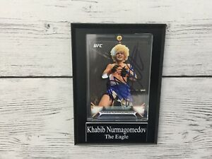 Khabib The Eagle Nurmagomedov Signed Autographed Card Plaque UFC Champ b