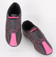 Century Sz 3.5 Girl's Black Hot Pink Tae Kwon Do TKD Trainer Shoes D179
