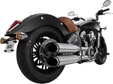 """Vance & Hines - 18621 - Twin Slash 4"""" Round Slip-On Exhaust Mufflers (Chrome)"""
