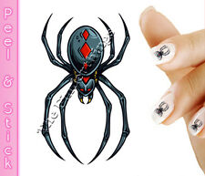 Black Widow Realistic Spider Nail Decal Stickers SPD101