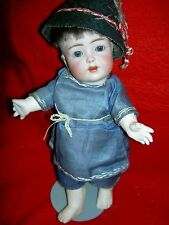 """Rare antique bisque, Franz Schmidt & Co. #1295 character toddler """"breather"""" doll"""