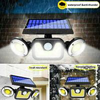 83 LED Outdoor Solar Motion Sensor Flood Light Garden Wall 3 Head Security Lamp