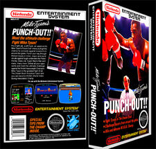 Mike Tysons Punchout  - NES Reproduction Art Case/Box No Game.