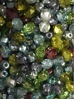 Beads , Fire Polished 4mm Czech Glass beads 600 pcs per pack 9 variations