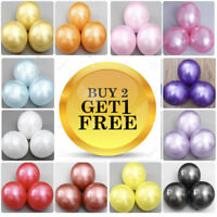 "20 PCS HELIUM Pearlised Latex Balloons 10"" Wedding Birthday Party CHRISTENING"
