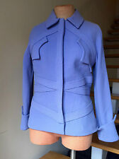Gianni Versace Couture Women's Coat Jacket Vintage Wool Light Purple Blue  M