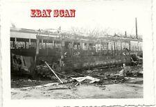 6H429 RP 1947 VIRGINIA TRANSIT STREET RAILWAY BURNED CAR NORFOLK VA