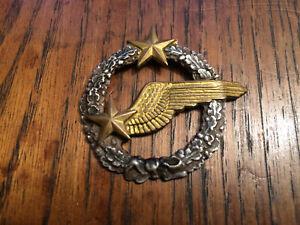 Insigne militaire brevet observateur ou élève pilote. Armée de l'air WW2 N°2
