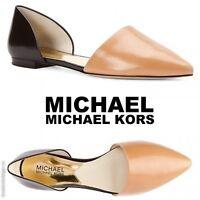 MICHAEL KORS Women's Julieta d'Orsay Flats Dress Casual Slip On Leather Shoes -