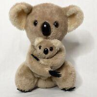 Vintage 1978 Dakin Nature Babies Koala Bear Mama & Baby Stuffed Plush