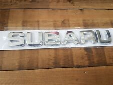 Chrome Subaru Boot Lettering Badge for Subaru (All Models) Decal Emblem