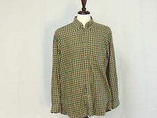 Orvis Green Plaid Button Front shirt EUC Size M