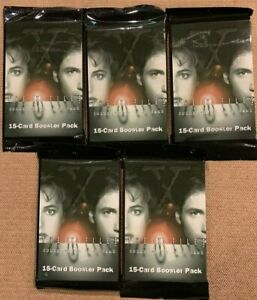 X-files CCG Booster Pack Lot (5 Packs) Factory Sealed 1996 Premier Edition