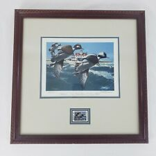 1992 Framed Print Georgia Waterfowl Stamp Buffleheads Phillip Crowe Signed 1980