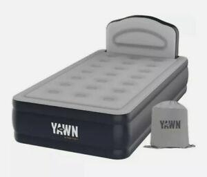 YAWN Air Bed Selfinflating Airbed Mattres Built In Pump Motor Camping - Single