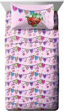 Shopkins Microfiber Soft 3 Piece Twin Sheet Set NEW